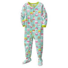 Details About Carters Toddler Girl Cupcakes Footed Blanket Sleeper Fleece Pajamas 4t
