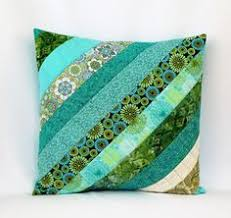 white banded patchwork pillows   Patchwork pillow, Fabric scraps ... & Blue Quilted Pillow Quilted Throw Pillow Quilted by OhSherryQuilts Adamdwight.com