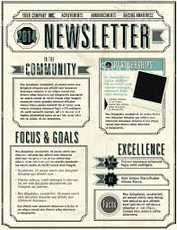 Great Newsletter Design Ideas Vector Illustration Of A Company Newsletter Design Template