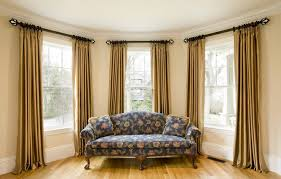Silk Curtains For Living Room Living Room With Two Toned Silk Curtains Silk Curtains Gallery