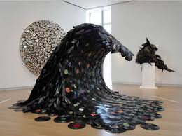 On 2007, korean artist Jean Shin created Sound Wave out of melted vinyl  records. The sculpture was part of The Museum of Art and Design's exhibit  Second ...