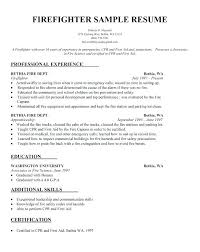 Firefighter Resume Templates Custom Format For A Resume Cover Letter Volunteer Firefighter Resume