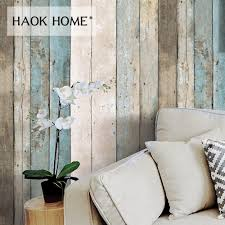 Haokhome Vintage Hout Behang Voor Muren 3d 053 M 10 M Rolls