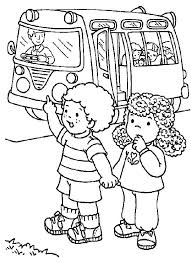 Small Picture Two Students Stopping the School Bus on First Day of School