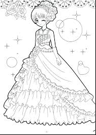 Chibi Anime Coloring Pages Printable Cute Princesses Page A Girl Boy