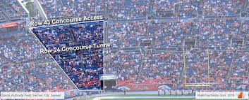 Denver Broncos Empower Field Seating Chart Interactive Map