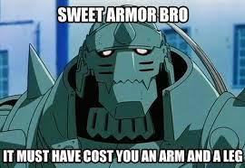 Sweet Armor Bro | Fullmetal Alchemist | Know Your Meme via Relatably.com