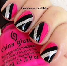 Be Strong And Fearless Top 55 Pink And Black Nails
