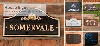 house signs and plaques available with a wide choice of materials colours fontotifs use our new sign designer to design and preview a house sign