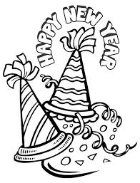 Small Picture Happy New Year Hat Coloring Pages GetColoringPagescom