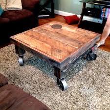Industrial Feel Reclaimed Wood Coffee Table