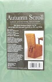 image is loading autumn scroll damask dining room chair cover in