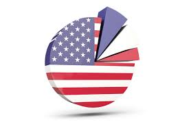 Pie Chart With Slices Illustration Of Flag Of United States