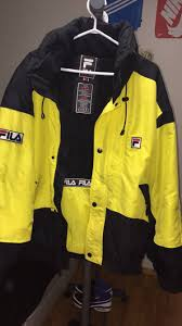 fila yellow jacket. fila fila alpine yellow jacket size us xl / eu 56 4