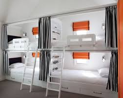 View in gallery Black and white bunk beds for four ...