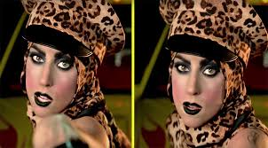 lady a telephone makeup