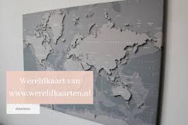 Wereldkaart Op Canvas Interior By Nik