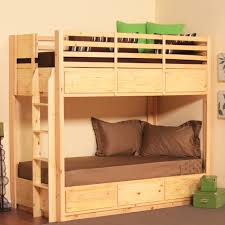 double bunk bed with space underneath.  Bunk Remarkable Design Bunk Bed Ideas With Natural Brown Wooden And  Storage Drawers Underneath Intended Double With Space O