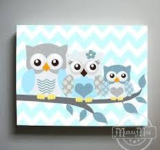 wall art for babies owl decor boys canvas nursery room baby nz