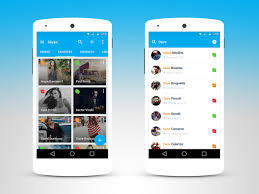Android Design Inspiration Skype For Android In Material Design Inspiration By Lumiart
