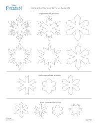 Disney Frozen Elsa Snowflake Hair Barrettes Printable 0813 Disney