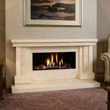 hu home strego limestone and travertine fire surround with kinder eden gas fire