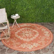 courtyard terracotta natural 7 ft x 7 ft indoor outdoor round area