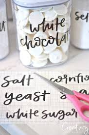 Free printable clear hand lettered pantry labels. The Creativity Exchange