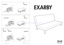 read assembly instruction for ikea exarby sofa bed frame page 1