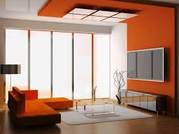 Orange Paint Colors For Living Room Living Room Paint Colors With Brown Furniture Orange Fabric