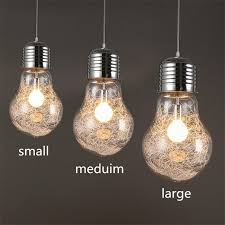 creative big bulb shape pendant light transpa glass e27 lighting fixtures home decoration for living room bar coffee in pendant lights from lights