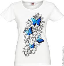 t shirt hand painted erflies 3d