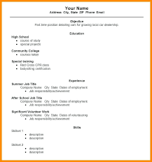 Example Of Basic Resumes Simple Resume Pdf Download Example Of Sample Job Format In Word How