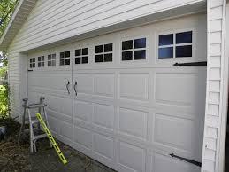 faux garage door windows