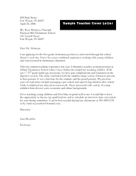 Brilliant Ideas Of Cover Letter For Chemistry Teacher Job In