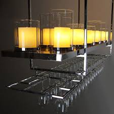 modern 18 marble candles and cup shelf chandelier 10001