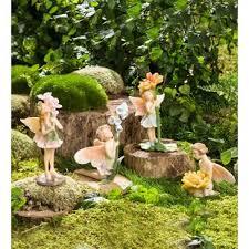 garden fairies statues. Miniature Flower Pixies 4 Piece Fairy Garden Set Fairies Statues