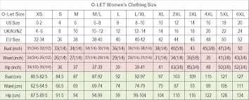 Size Chart M Oletshop Com