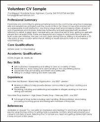 Volunteer Experience On Resume Complete Portrait Cv Sample