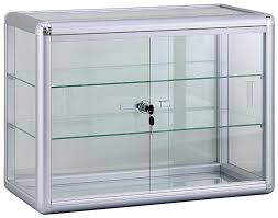 small countertop lock display case for retail jewelry