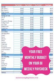 Excel Biweekly Budget Template 017 Ic Business Budget Template 1 Ideas Bi Marvelous Weekly