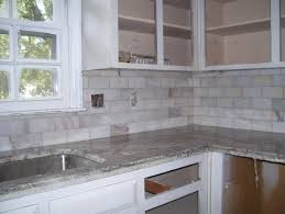 Marble Tile Backsplash Kitchen Backsplash Combinations Of Shiny Cobalt Blue And Pure White And