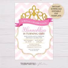 Royal Invitation Template Royal Princess Invitation Template