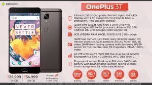 one plus one size oneplus 3t officially launched in india inr 29999