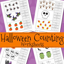 Halloween Counting Worksheets - Itsy Bitsy Fun