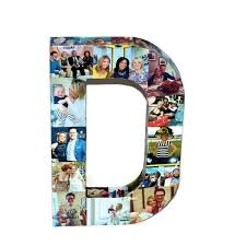 example of collage today show feature picture collage letter 3d initial letter d