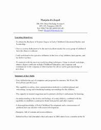 How To Write A Cover Letter For Early Childhood Education Unique Early Childhood Education Cover Letter Example