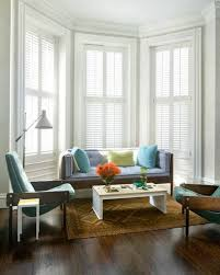 For Bay Windows In A Living Room Living Room Bay Window Dressing Shutter Bay Window Dressing