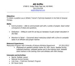sample athletic resumes skills objective relevant experience interest and activities