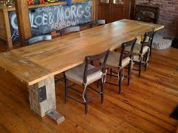 reclaimed barn wood dining table